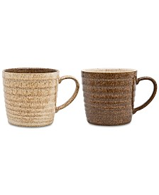 Denby Studio Craft 2-Pc. Alt Ridged Mug Set