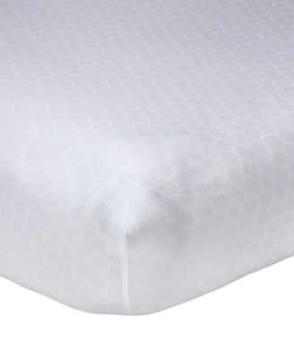 Lily  100% Cotton Geo-Print Fitted Crib Sheet