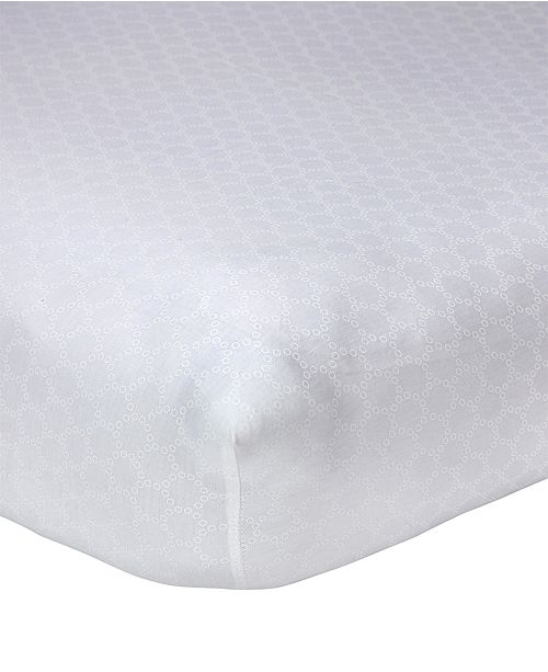 Carter's Lily  100% Cotton Geo-Print Fitted Crib Sheet