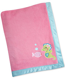 Carter's Sea Embroidered Appliqué Fleece Blanket