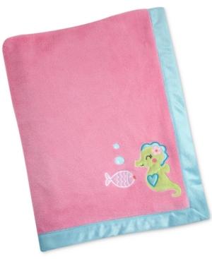 Carters Sea Embroidered Applique Fleece Blanket Bedding