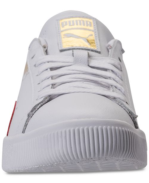 reputable site 120a5 a9cd9 Puma Men's Clyde Core L Foil Casual Sneakers from Finish ...