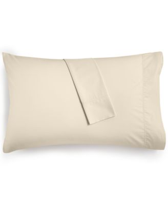 Solid Standard Pillowcase pair, 400 Thread Count 100% Cotton Percale, Created for Macy's