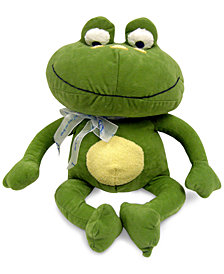 NoJo Jungle Babies Freddie the Frog Plush Decorative Pillow