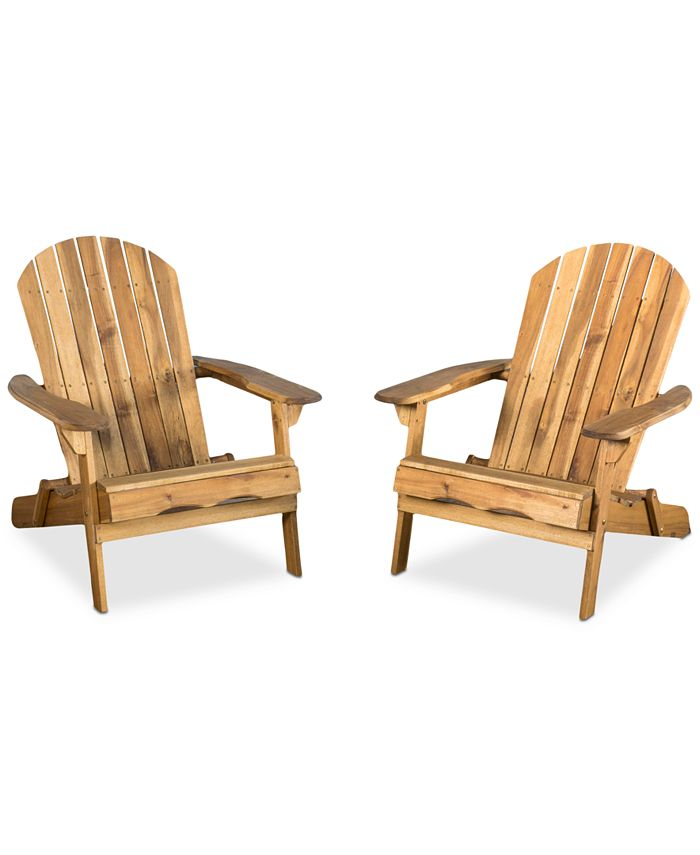 Noble House - Collyer Adirondack Chairs (Set of 2), Quick Ship