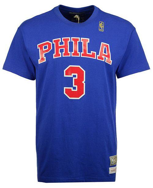 cheaper 88e73 3d9b2 Men's Allen Iverson Philadelphia 76ers Hardwood Classic Player T-Shirt