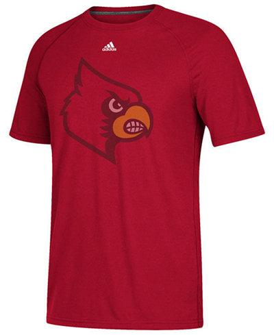 adidas Men's Louisville Cardinals Linear Play Logo T-Shirt