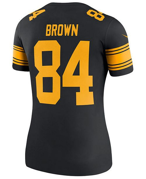 4ba87e03ce6 ... Nike Women s Antonio Brown Pittsburgh Steelers Color Rush Legend Jersey  ...