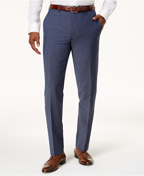 Bar III Men's Slim-Fit Active Stretch Suit Pants, Created for Macy's