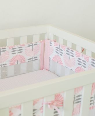 Dreaming in Dax Secure-Me 4-Pc. Fan-Print Crib Liner Set