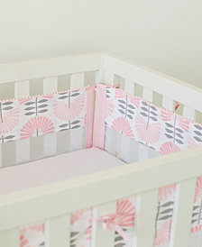Petunia Pickle Bottom Dreaming in Dax Secure-Me 4-Pc. Fan-Print Crib Liner Set