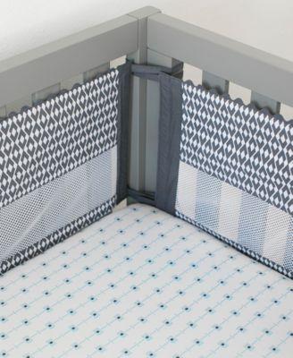 Southwest Skies Secure-Me 4-Pc. Geo-Print Crib Liner Set