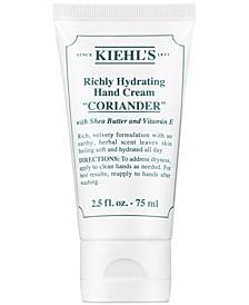 Richly Hydrating Hand Cream - Coriander, 2.5-oz.