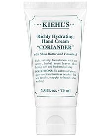 Kiehl's Since 1851 Richly Hydrating Hand Cream - Coriander, 2.5-oz.