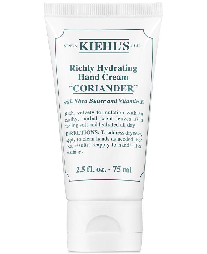 Kiehl's Since 1851 - Richly Hydrating Hand Cream - Coriander, 2.5-oz.