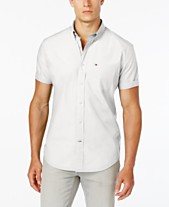 333d362d Tommy Hilfiger Men's Maxwell Short-Sleeve Button-Down Classic Fit Shirt,  Created for