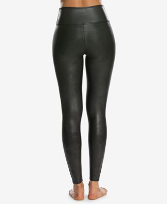 Spanx Women S Petite Faux Leather Tummy Control Leggings Handbags
