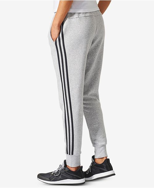 9d1a26862668 adidas Cotton Fleece 3 Stripe Joggers   Reviews - Pants   Capris ...