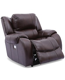 Rinworth Leather Recliner with Articulating Headrest  and USB Power Outlet