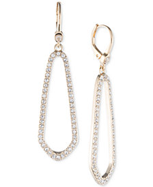 Ivanka Trump Gold-Tone Pavé Open Drop Earrings