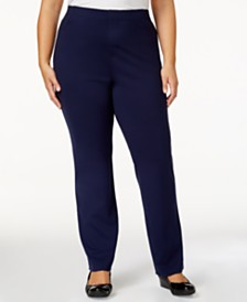 Karen Scott Plus Size Comfort Pants, Created for Macy's