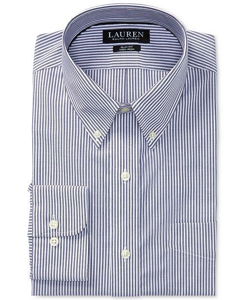 9ad0bbe2391 ... Lauren Ralph Lauren Men s Slim-Fit Stretch Non-Iron Purple Stripe Dress  Shirt ...