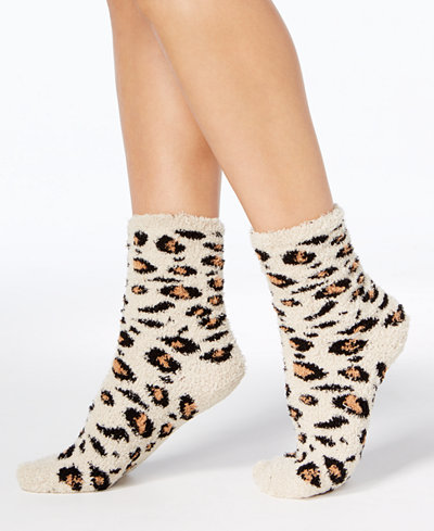 Charter Club Women's Leopard-Print Supersoft Butter Socks, Created for Macy's