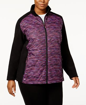 ideology plus size colorblocked jacket, created for macy's