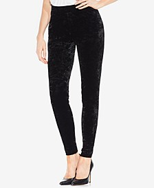 Petite Crushed Velvet Leggings