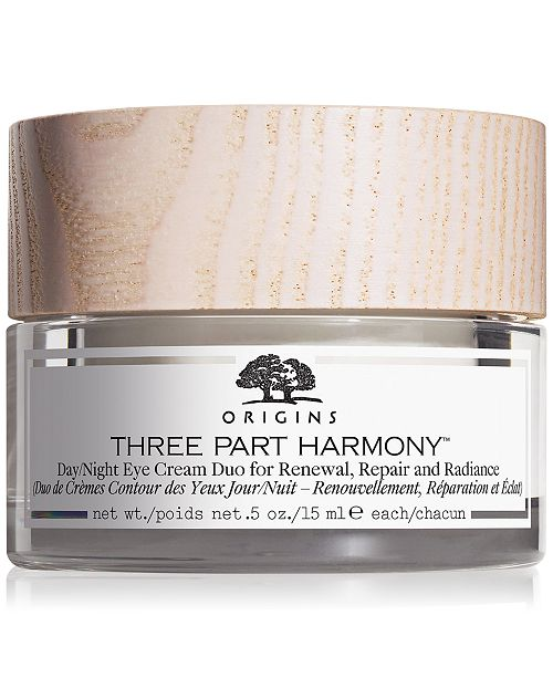 Origins Three Part Harmony Day/Night Eye Cream Duo For Renewal, Repair & Radiance, 1-oz.