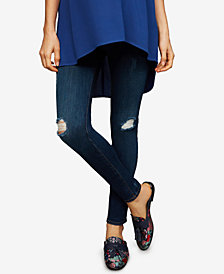 A Pea in the Pod Maternity Dark Wash Skinny Ankle Jeans