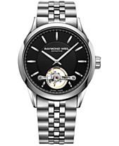 2f4fe6a00 RAYMOND WEIL Men's Swiss Automatic Freelancer Stainless Steel Bracelet Watch  42mm