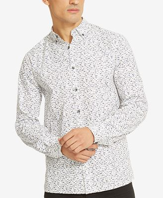 Kenneth Cole Reaction Men's Printed Button-Down Shirt - Casual ...