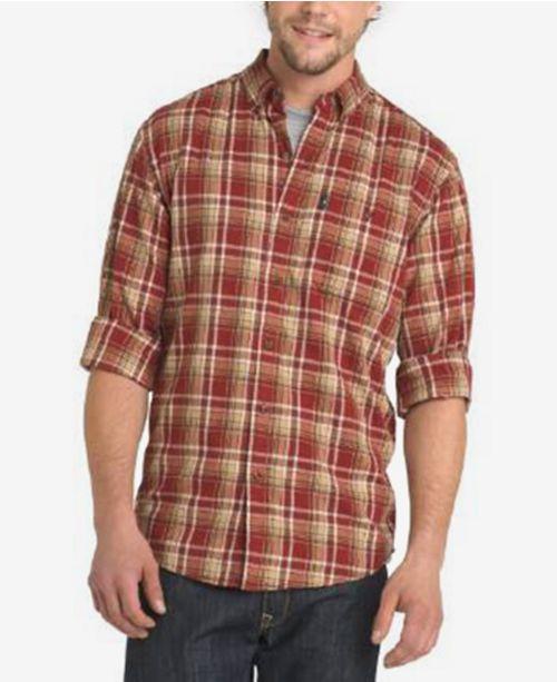 7a24050145 G.H. Bass & Co. Men's Madawaska Trail Plaid Flannel Shirt & Reviews ...