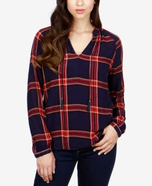 Lucky Brand Plaid Peasant...