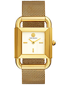 Tory Burch Women's Phipps Gold-Tone Stainless Steel Mesh Bracelet Watch 29x41mm