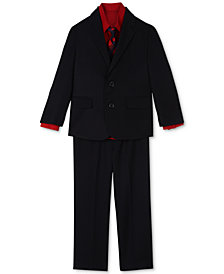Nautica 4-Pc.Herringbone Suit Set, Little Boys