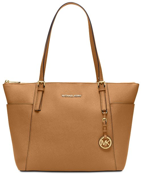 ea4cf597fab186 Michael Kors Jet Set Item Extra-Large Saffiano Leather Tote & Reviews