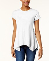 74f221544 Style & Co Handkerchief-Hem T-Shirt, Created for Macy's
