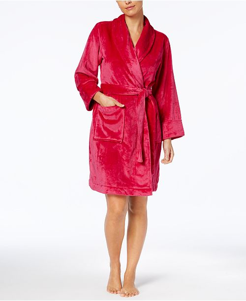 Charter Club Short Plush Robe, Created for Macy's