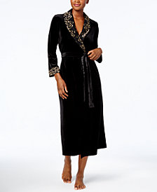 Thalia Sodi Velour Lace-Trim Robe, Created for Macy's