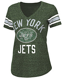 G-III Sports Women's New York Jets Big Game Rhinestone T-Shirt