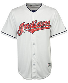 Majestic Men's Cleveland Indians Stars & Stripes Cool Base Jersey