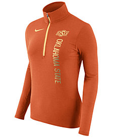 Nike Women's Oklahoma State Cowboys Stadium Element Quarter-Zip Pullover