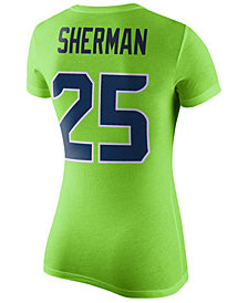 Nike Women's Richard Sherman Seattle Seahawks Color Rush Player Pride T-Shirt