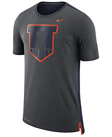 Nike Men's Illinois Fighting Illini Meshback Travel T-Shirt