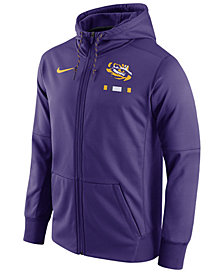 Nike Men's LSU Tigers Therma Full-Zip Hoodie