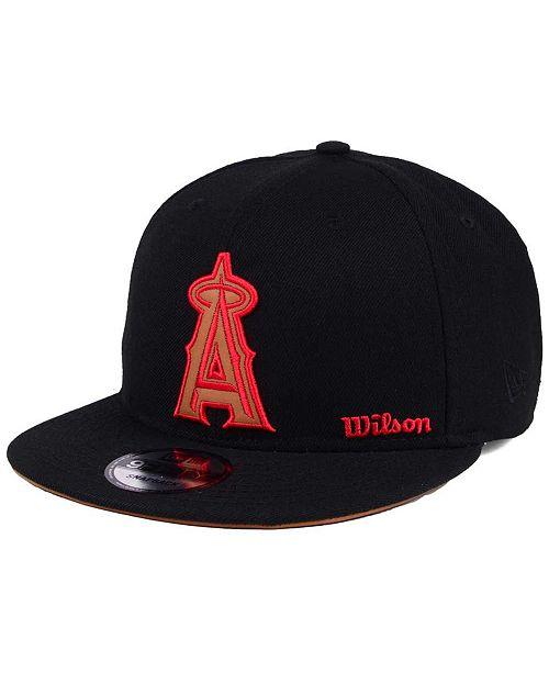 best loved 617df 73e61 ... New Era Los Angeles Angels X Wilson Side Hit 9FIFTY Snapback Cap ...