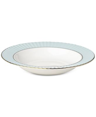 Pleated Colors Aqua Pasta Rim/Soup Bowl
