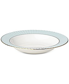Lenox Pleated Colors Aqua Pasta Rim/Soup Bowl